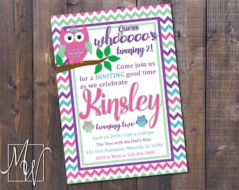 Printable Owl Birthday Invitation