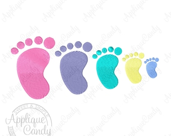 Baby Foot Solid Fill Machine Embroidery Design 1x1 1.5x1.5 2x2 2.5x2.5 3x3 foot print INSTANT DOWNLOAD