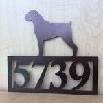 Custom Dog Silhouette Address Sign with Powder Coat