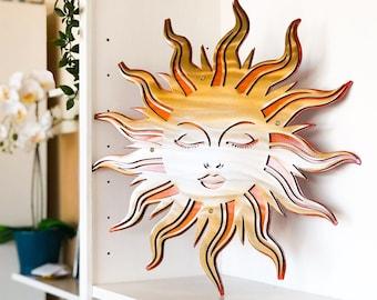 Sun In Splendor Metal Wall Art, Dual Layer