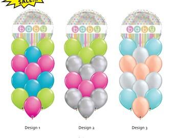 9cfc3bde7f76 Items similar to Baby Girl Balloon Bouquet 18
