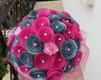 bouquet de mariée en origami