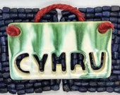 Cymru/Wales home hanging tile/Welsh pottery gift idea/wall decor