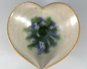 Hand thrown decorative pottery ring dish or small jewellery organiser bowl,  Mothers Day gift, blue green and white glaze, UK made