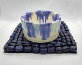 Craft pottery candle holder, artisan tea light pots, handmade in UK, FREE UK Shipping