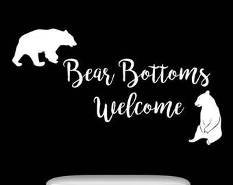 Bear Cub Wall Decal Etsy