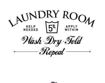 Laundry Room Decor, Laundry Sign, Laundry Room Sign, Laundry Room Decal, Laundry Room Art, Laundry Decal, Home Decor, Wall Decal, Wall Art