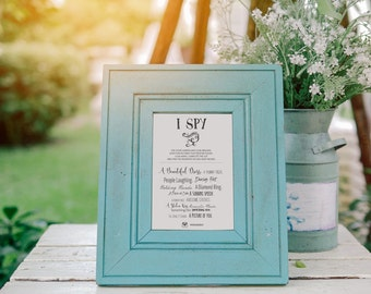 No. G1 | 8 x 6 Printable Template | I SPY Wedding Game