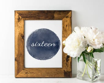 No. TN6 | Table Numbers | 1 - 20 | Navy | Wedding or Reception Decor | Watercolour | Rustic | PDF | PNG | DIY | Printable | Instant Download