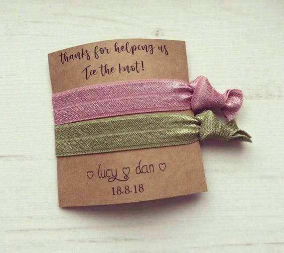 Thanks for helping us tie the knot Personalised hair tie  f4ad7f1f996