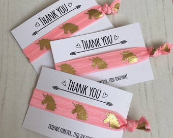 Unicorn - Hair Ties | Wristbands - Party favours, Party Favors, Kids, Thank you, Party bag fillers, Party gifts, Hairties, Elastic, Bracelet