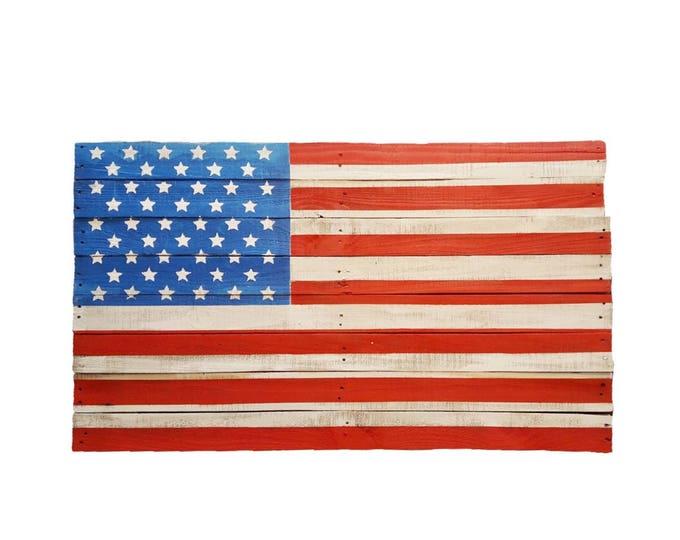 Wooden American Flag Sign, Rustic Wooden American Flag, Reclaimed Wood, Handmade