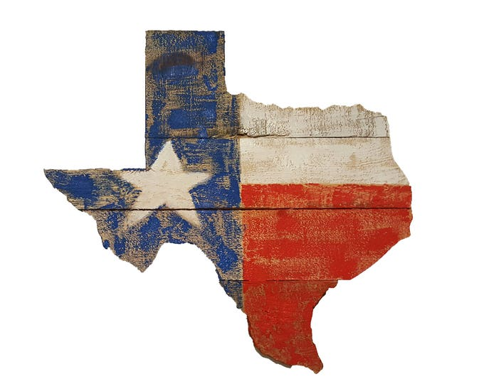Wooden Texas Lone Star State Flag Sign, Reclaimed Wood, Handmade