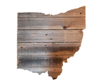 Wooden Ohio State Sign, Reclaimed Wood, Handmade