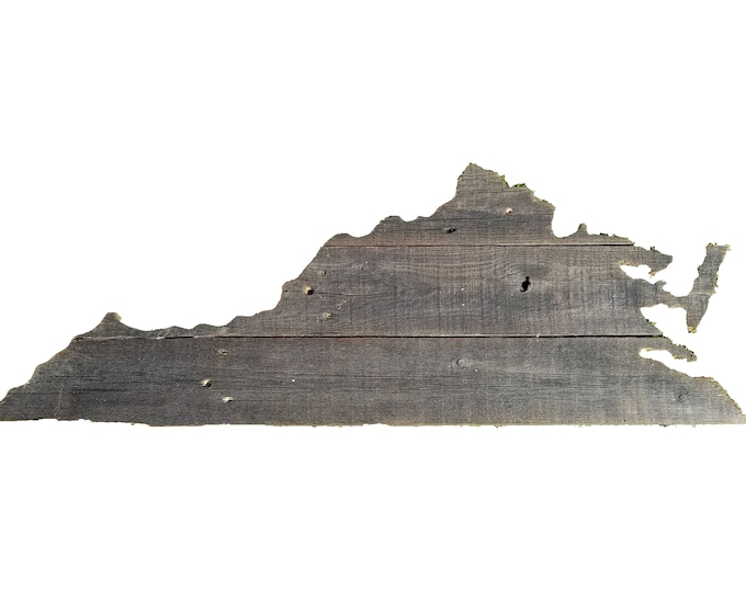 Wooden Virginia State Sign, Reclaimed Wood, Handmade, Virginia Decor