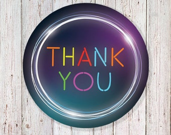 """Glow Thank You - 2"""" Round Labels (INSTANT DOWNLOAD)"""