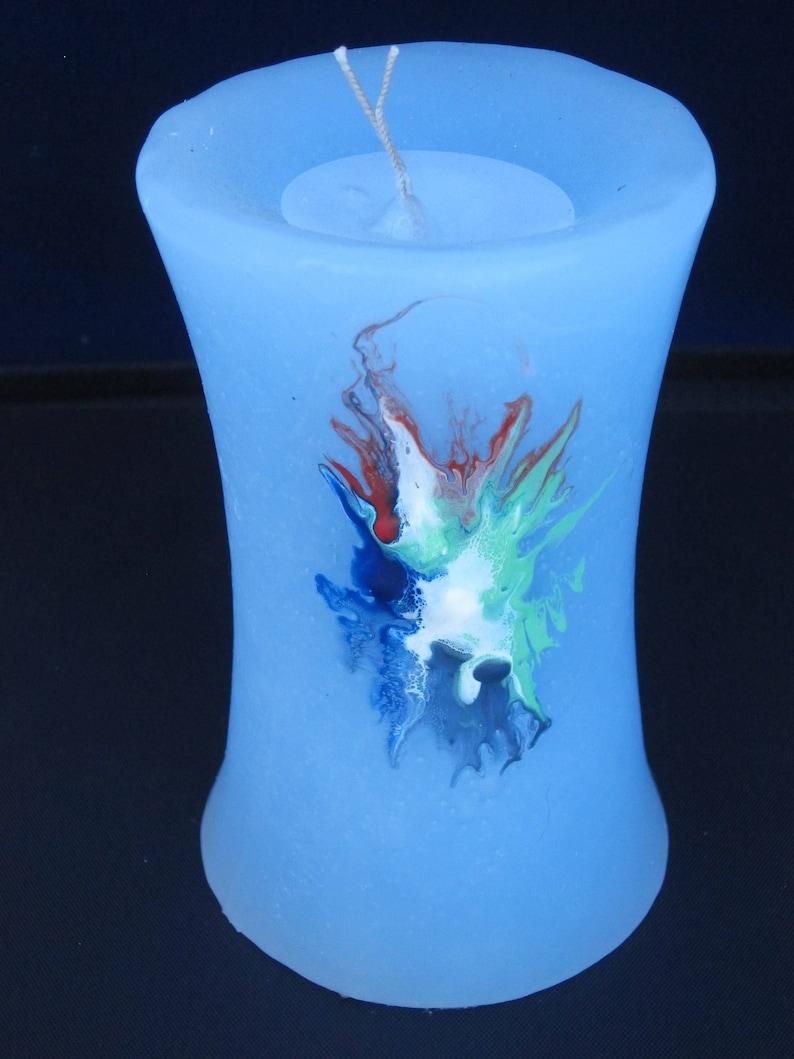 Candle Blue Cylinder luminescent image 0