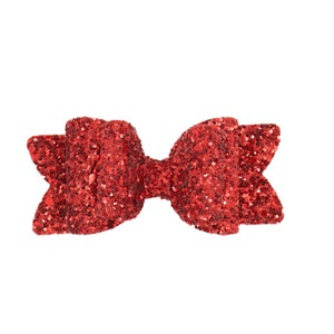 Liberty Pink Bow Ballerina bow One size fits all Baby girl headbands Glitter bow Birthday bow
