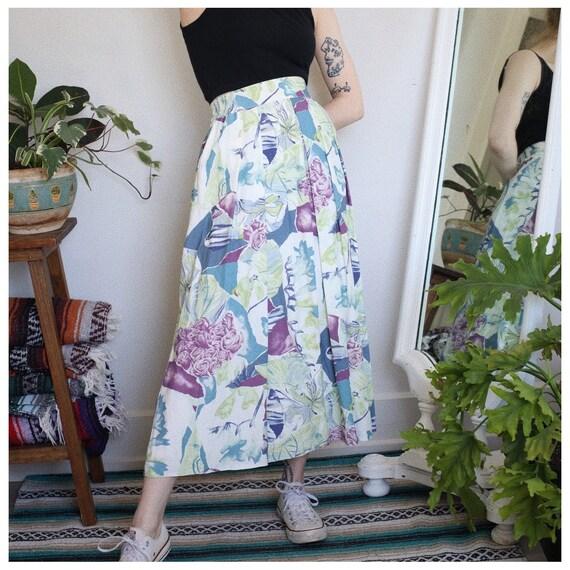 White Pastel Coloured Skirt