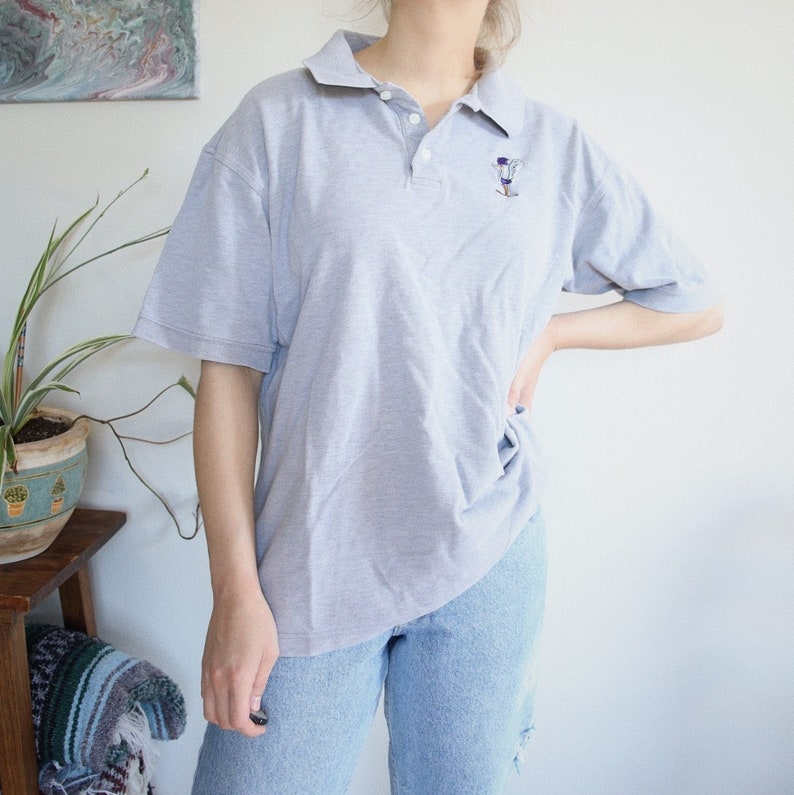 Grey Road Runner Collared Shirt