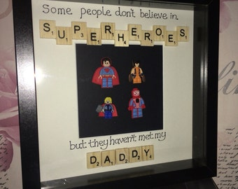 Father's Day scrabble art frame