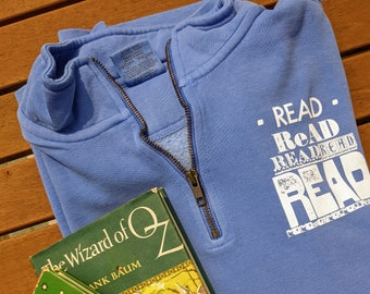Read Read Read 1/4 Zip Sweatshirt