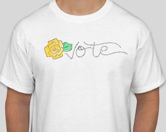 Vote Yellow Rose T-Shirt