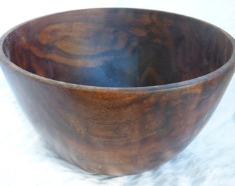 Wood Turned Black Walnut Bowl