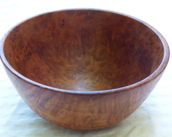 Wood Turned Redwood Burl Bowl