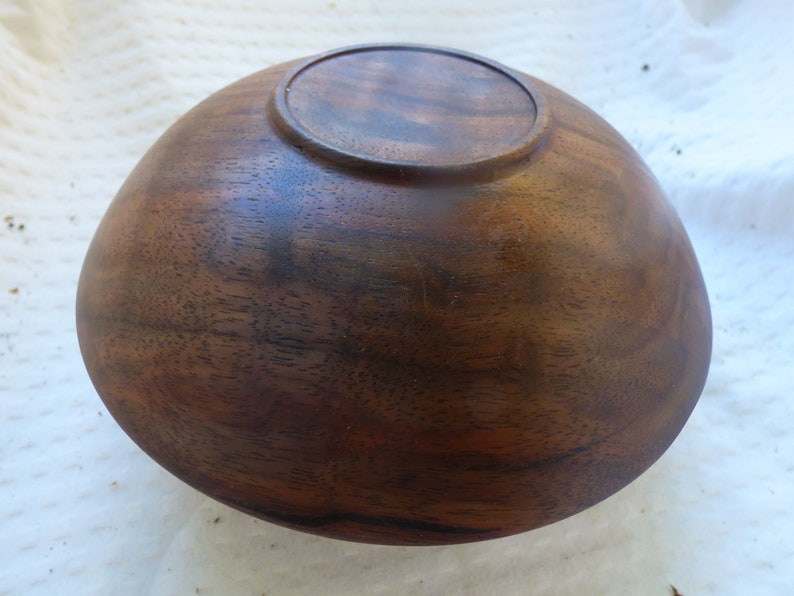 Claro Walnut Bowl Wood Turn ed Black Walnut
