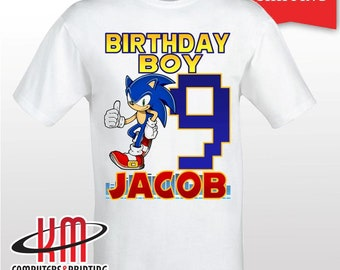 51c7f223 Sonic the Hedgehog Custom PERSONALIZED Birthday Shirt, Mom , Dad, Baby,  Sister, Brother,