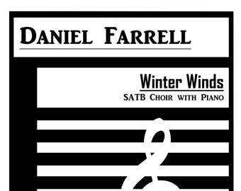 Winter Winds - SATB Choir with Piano (Op. 15) [DIGITAL/INSTANTDOWNLOAD]