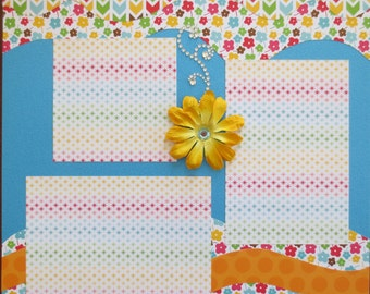 Beach - Summer - Sunkissed - 12X12 Double Page Premade Scrapbook Layout
