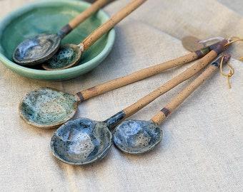 MADE TO ORDER, Handmade ceramic spoons pottery spoon Wabi-Sabi kitchen housewarming gift kitchen decor stoneware spoon, table decor