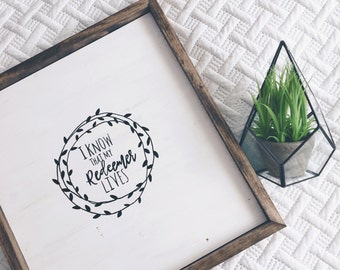 Redeemer | Rustic Farmhouse Sign