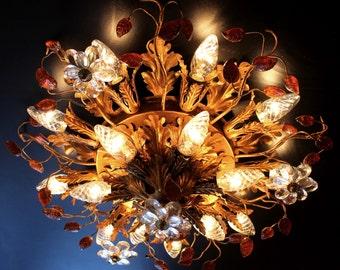 Plafoniere Kristall Groß : Florentiner leuchter etsy