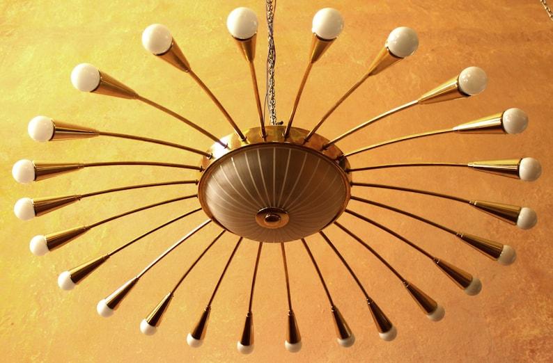 Plafoniere Industrial Style : Reserved for jen k. collossal ballroom spider sputnik 1950s etsy