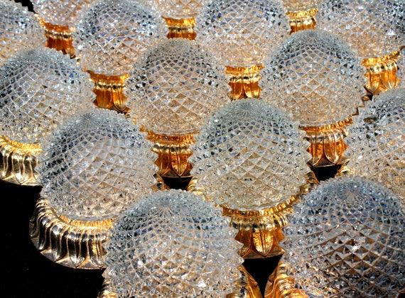 Plafoniere De Metal : Petite gold plated limburg plafoniere a ceiling lamp etsy