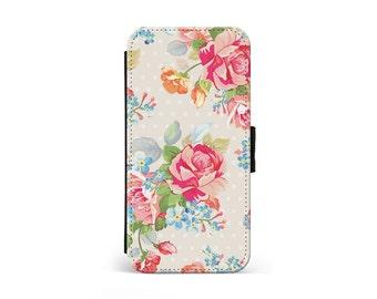 Pink Floral Roses Wallet Flip Case fb20ed0677