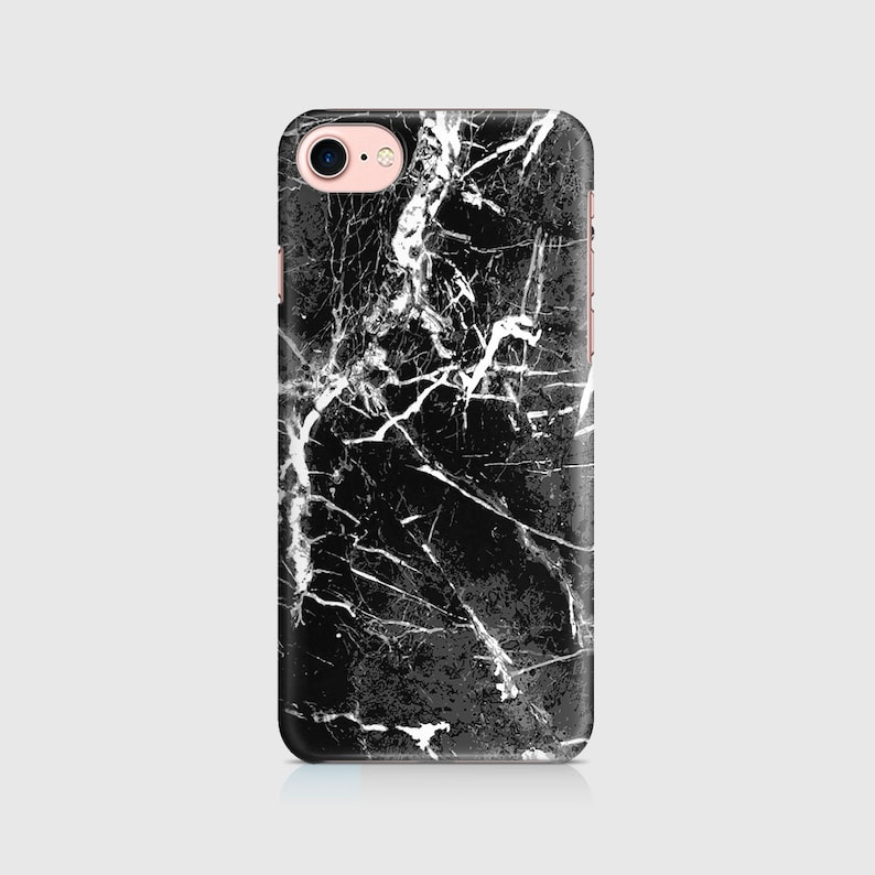 pretty nice 4328f ebc0e Split Cracked Black Marble, Marble Print, Marble Design, Phone Case Cover  iPhone 7, iPhone 6 iPhone 5 Galaxy Samsung \ hc-pp006