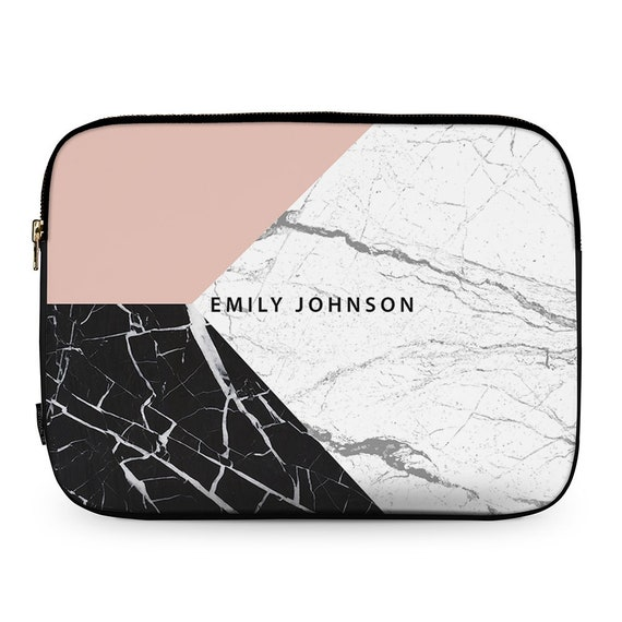 b90c4d17b5a3 Personalised Pink Geometric Marble Add Your Name Neoprene