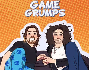 "Game Grumps - Grump and Not So Grump 12x18"" poster print"