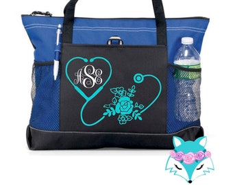 7fa4ce66fe21 Canvas nurse bag | Etsy