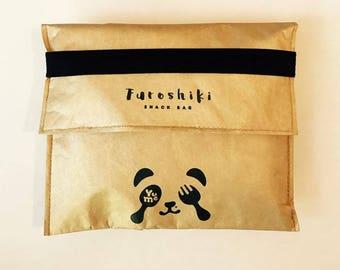 FUROSHIKI Insulated Snack & Sandwich Bags / YuMe YSB-1 / Tyvek / Food Storage/ reusable bags