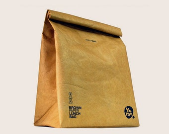 "Insulated Lunch Bag Tyvek ""Brown Paper"" / YPB-2 / Lunch Sack/ Lunch Bag/ paper bag/ Insulated/ BACK to SCHOOL/ Eco-friendly"