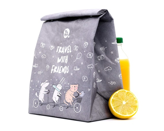 YUME Food Insulated Lunch Bag for Women - Lunch Bags Boxes Reusable -  Insulated Lunch Tote Bag - Lunch Box for Kids - Teddy bear's picnic