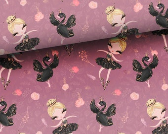 Purple cotton fabric for girls, pillows fabric, bedding fabric, sewing cotton material, nursery bedroom decor fabric by the half yard