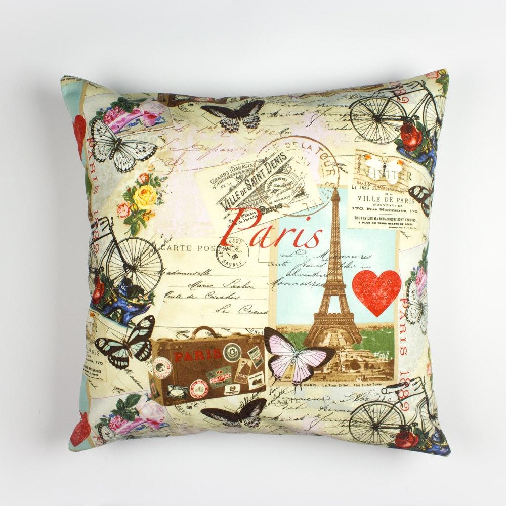 Paris Pillow Case Paris Bedroom Decor France Pillow Cover