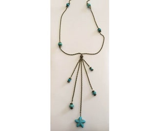 Natural Turquoise Necklace, December Birthstone