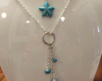 Natural Turquoise Pendant Necklace December Birthstone